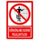 Görgős lábú székre felmászni tilos tiltó piktogram tábla