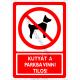 Kutyát a parkba vinni tilos tiltó piktogram tábla