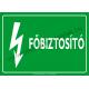 Főbiztosító villamossági piktogram tábla