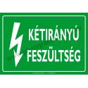 Kétirányú feszültség villamossági piktogram tábla