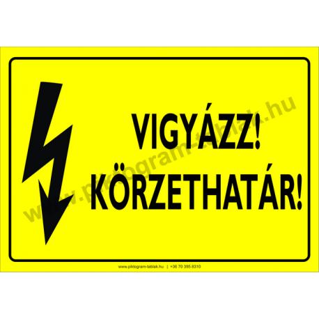 Körzethatár villamossági piktogram tábla