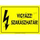 Szakaszhatár villamossági piktogram tábla
