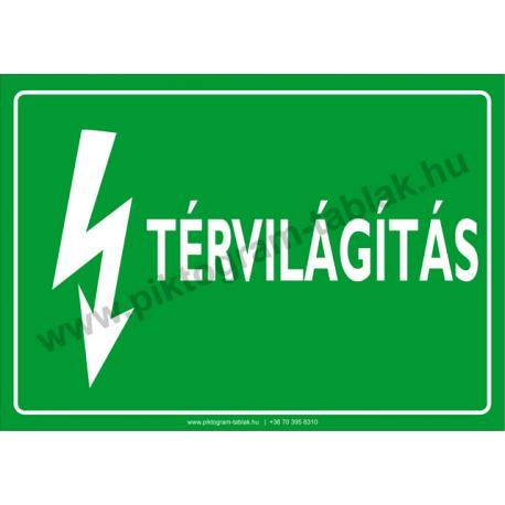 Térvilágítás villamossági piktogram tábla