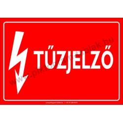 Tűzjelző villamossági piktogram tábla