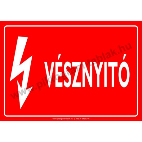 Vésznyitó villamossági piktogram tábla