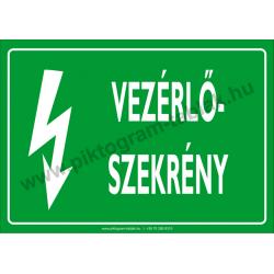 Vezérlő szekrény villamossági piktogram tábla