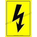 Villámjel villamossági piktogram tábla