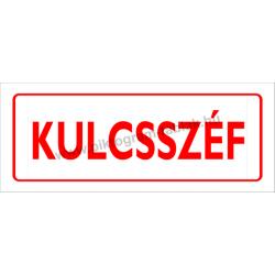 Kulcsszéf tűzvédelmi piktogram tábla