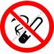 Tilos a dohányzás tűzvédelmi piktogram matrica