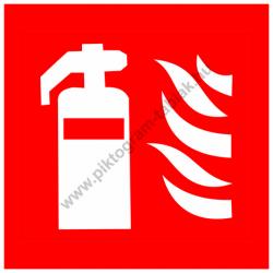 Tűzoltókészülék tűzvédelmi piktogram tábla