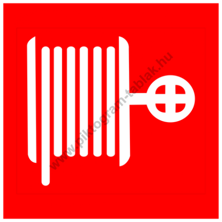 Tűzivíz tömlő piktogram tábla
