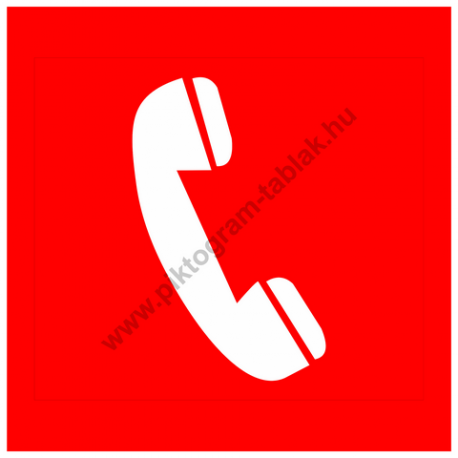 Tűzjelző telefon piktogram tábla