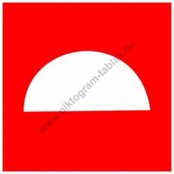 Tűzjelző tűzvédelmi piktogram tábla