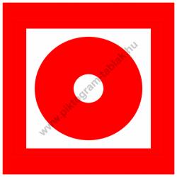 Kézi tűzjelző tűzvédelmi piktogram tábla