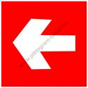 Irány nyíl tűzvédelmi piktogram tábla