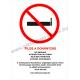 Tilos a dohányzás - 5 nyelven tűzvédelmi piktogram tábla