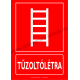 Tűzoltólétra tűzvédelmi piktogram tábla