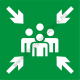 Utánvilágító gyülekezőhely piktogram tábla