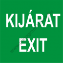 Utánvilágító kijárat - exit piktogram tábla