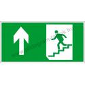 Utánvilágító menekülési út fel a lépcsőn piktogram tábla