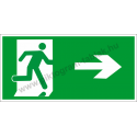 Utánvilágító menekülési út jobbra piktogram tábla