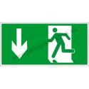 Utánvilágító menekülési út le piktogram tábla