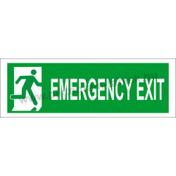 Utánvilágító emergency exit piktogram tábla