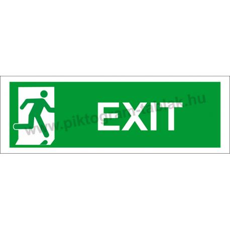 Utánvilágító exit piktogram tábla