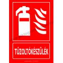Utánvilágító Tűzoltókészülék tűzvédelmi piktogram tábla