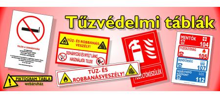 Tűzvédelmi táblák